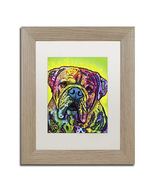 """Trademark Global Dean Russo 'Hey Bulldog' Matted Framed Art - 14"""" x 11"""" x 0.5"""""""