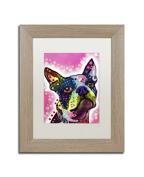 "Trademark Global Dean Russo 'Boston Terrier' Matted Framed Art - 14"" x 11"" x 0.5"""