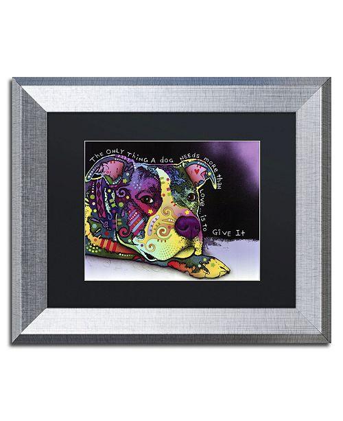 """Trademark Global Dean Russo 'Affection' Matted Framed Art - 14"""" x 11"""" x 0.5"""""""