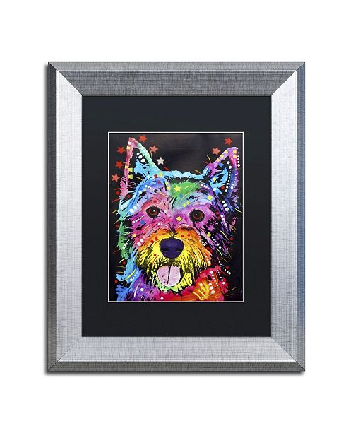 "Trademark Global Dean Russo 'Westie' Matted Framed Art - 14"" x 11"" x 0.5"""