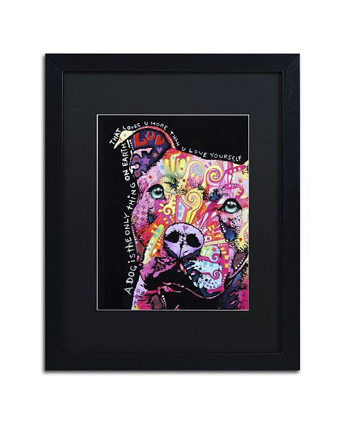 """Trademark Global Dean Russo 'Thoughtful Pit Bull' Matted Framed Art - 16"""" x 20"""" x 0.5"""""""