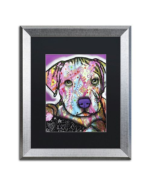 """Trademark Global Dean Russo 'Baby Pit' Matted Framed Art - 20"""" x 16"""" x 0.5"""""""