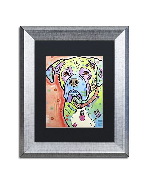 "Trademark Global Dean Russo 'The Boxer' Matted Framed Art - 14"" x 11"" x 0.5"""