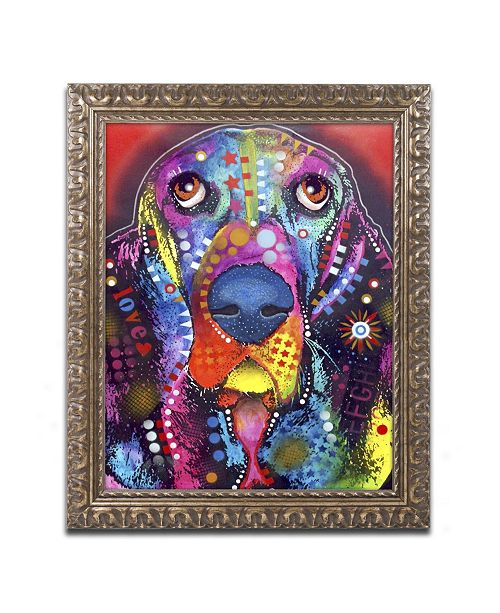 "Trademark Global Dean Russo 'Basset II' Ornate Framed Art - 14"" x 11"" x 0.5"""