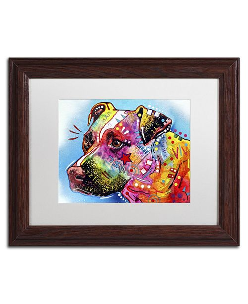 "Trademark Global Dean Russo 'Pit Bull 1059' Matted Framed Art - 14"" x 11"" x 0.5"""