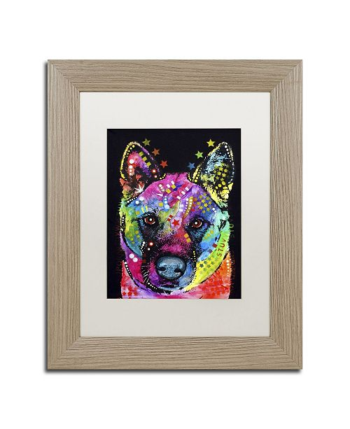 "Trademark Global Dean Russo 'Akita II' Matted Framed Art - 14"" x 11"" x 0.5"""