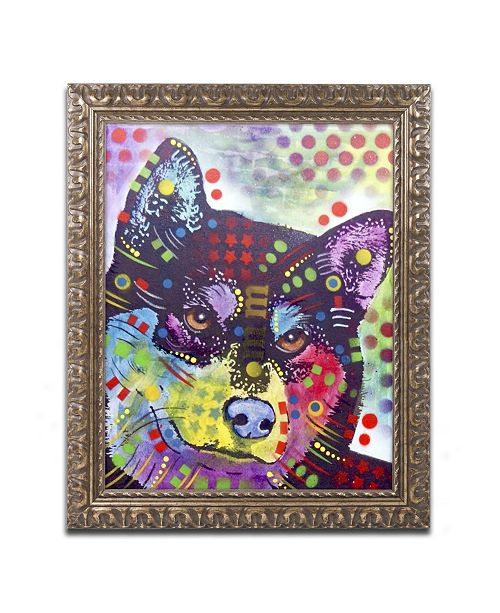 "Trademark Global Dean Russo 'Shiba Inu' Ornate Framed Art - 14"" x 11"" x 0.5"""