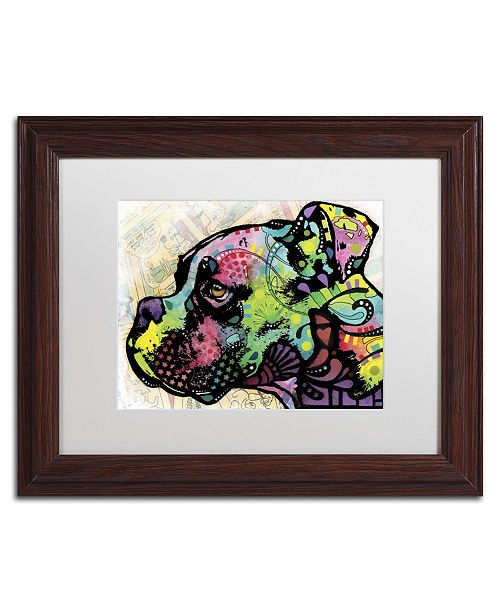 """Trademark Global Dean Russo 'Profile Boxer Deco' Matted Framed Art - 14"""" x 11"""" x 0.5"""""""