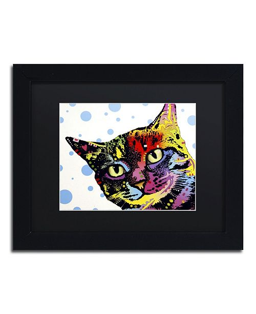 "Trademark Global Dean Russo 'The Pop Cat' Matted Framed Art - 11"" x 14"" x 0.5"""