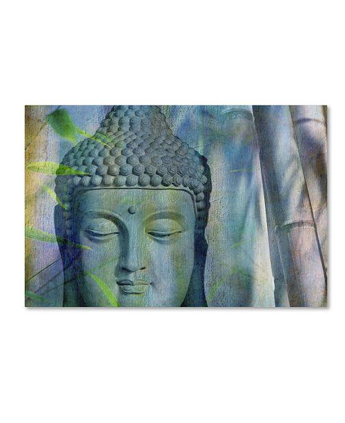 "Trademark Global Cora Niele 'Buddha with Bamboo' Canvas Art - 24"" x 16"" x 2"""