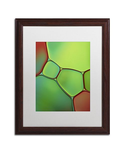 "Trademark Global Cora Niele 'Stained Glass IV' Matted Framed Art - 20"" x 16"" x 0.5"""