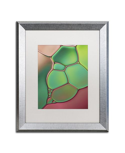 """Trademark Global Cora Niele 'Stained Glass V' Matted Framed Art - 20"""" x 16"""" x 0.5"""""""