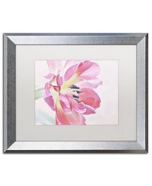 "Trademark Global Cora Niele 'Cerise Tulip' Matted Framed Art - 20"" x 16"" x 0.5"""