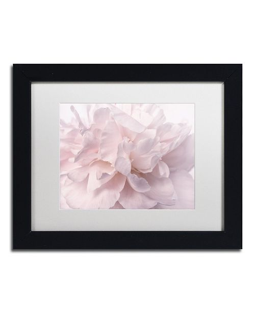 "Trademark Global Cora Niele 'Pink Peony Petals II' Matted Framed Art - 11"" x 14"" x 0.5"""