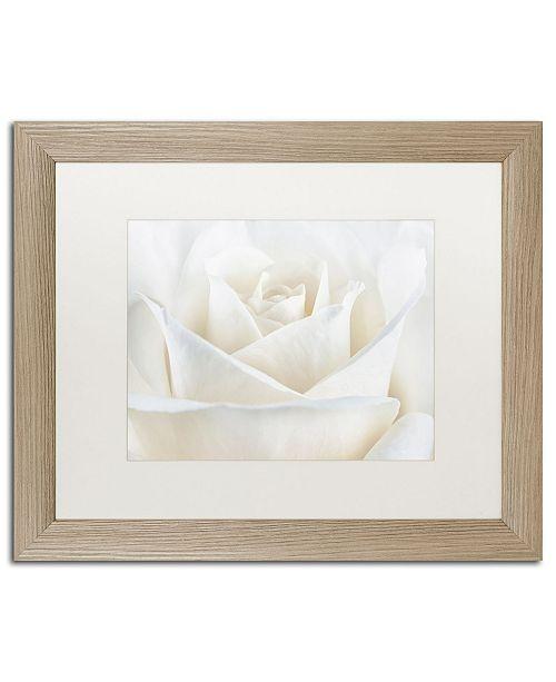 "Trademark Global Cora Niele 'Pure White Rose' Matted Framed Art - 20"" x 16"" x 0.5"""