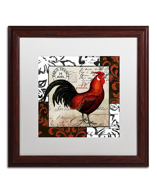 "Trademark Global Color Bakery 'Europa II' Matted Framed Art - 16"" x 0.5"" x 16"""