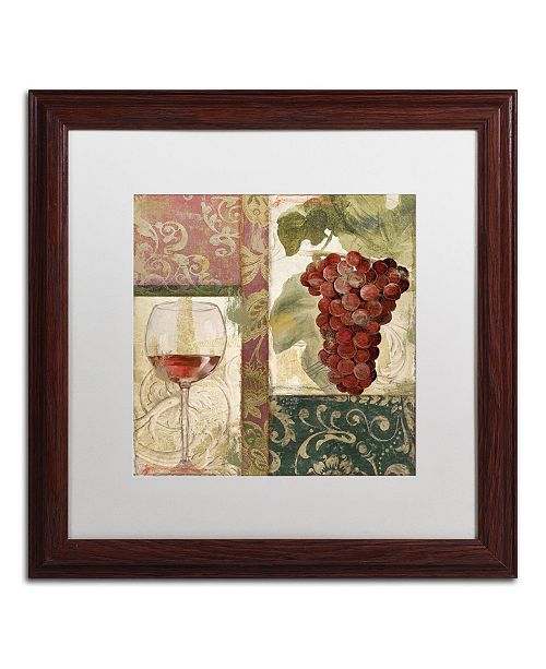 "Trademark Global Color Bakery 'Sofia I' Matted Framed Art - 16"" x 0.5"" x 16"""