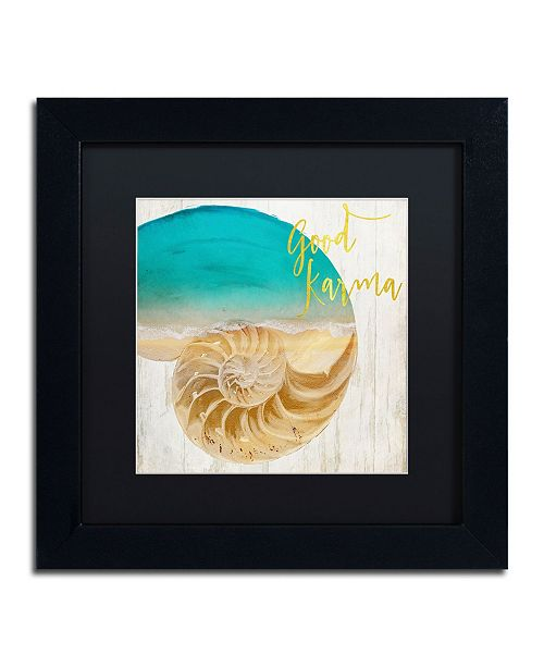 "Trademark Global Color Bakery 'Sea In My Hand' Matted Framed Art - 11"" x 11"" x 0.5"""