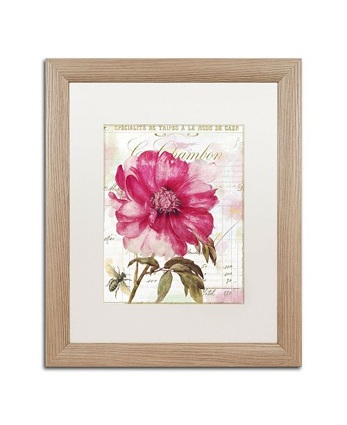 """Trademark Global Color Bakery 'Pink Peony' Matted Framed Art - 16"""" x 0.5"""" x 20"""""""