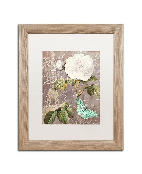 """Trademark Global Color Bakery 'White Rose' Matted Framed Art - 16"""" x 0.5"""" x 20"""""""