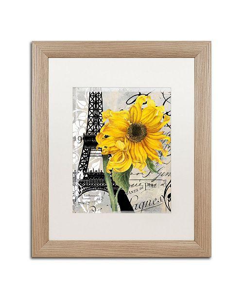 "Trademark Global Color Bakery 'Paris Blanc' Matted Framed Art - 16"" x 0.5"" x 20"""