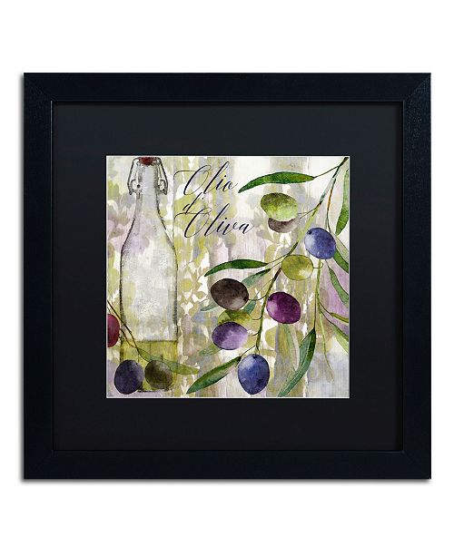 """Trademark Global Color Bakery 'Colors Of Tuscany I' Matted Framed Art - 16"""" x 16"""" x 0.5"""""""
