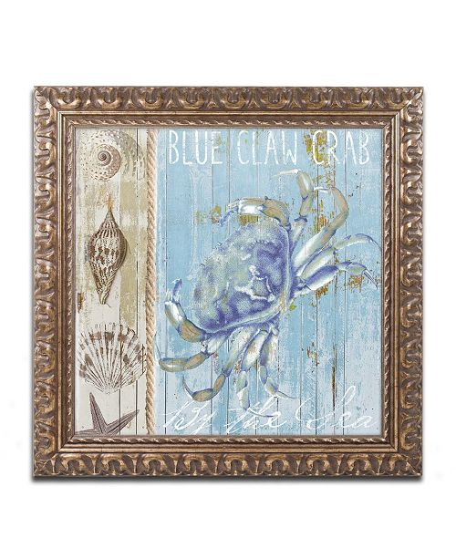 "Trademark Global Color Bakery 'Blue Crab I' Ornate Framed Art - 11"" x 0.5"" x 11"""