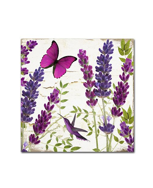"Trademark Global Color Bakery 'Lavender II' Canvas Art - 35"" x 2"" x 35"""