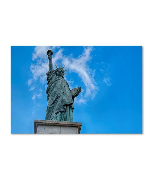 "Trademark Global Cora Niele 'Statue Of Liberty Paris I' Canvas Art - 19"" x 12"" x 2"""