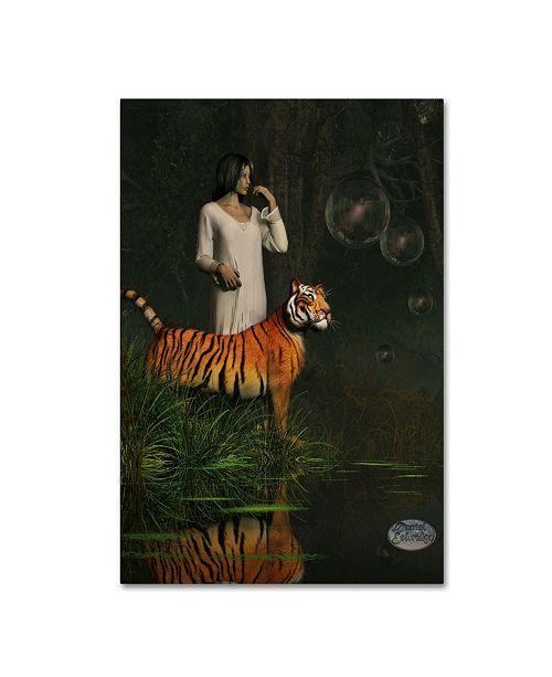 """Trademark Global Daniel Eskridge 'Dreams Of Tigers And Bubbles' Canvas Art - 24"""" x 16"""" x 2"""""""
