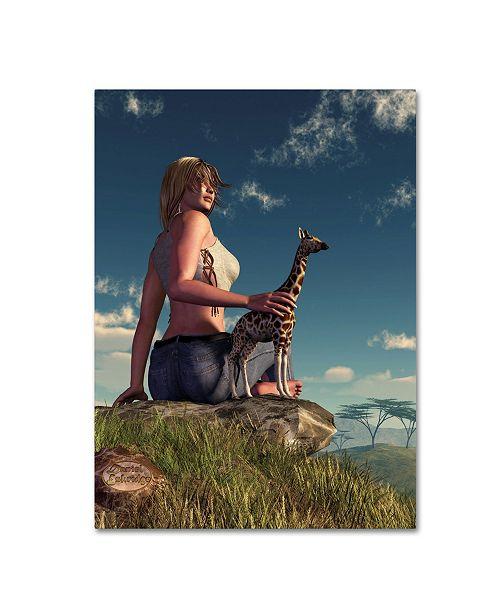 "Trademark Global Daniel Eskridge 'Miniature Giraffe' Canvas Art - 47"" x 35"" x 2"""