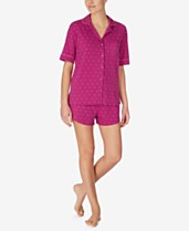 2c7f75bd553 DKNY Logo Notch Collar Top and Boxer Shorts Pajama Set