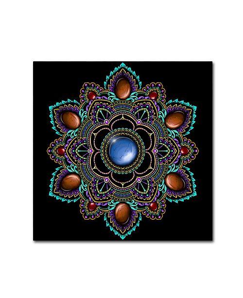 "Trademark Global Delyth Angharad 'Gemstone Mandala' Canvas Art - 14"" x 14"" x 2"""