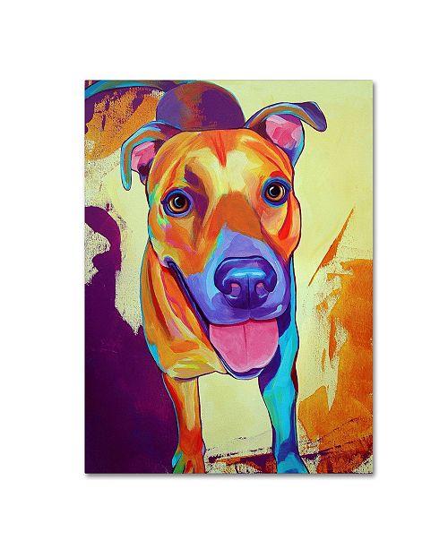 "Trademark Global Corina St. Martin 'Kelsea Dog' Canvas Art - 32"" x 24"" x 2"""