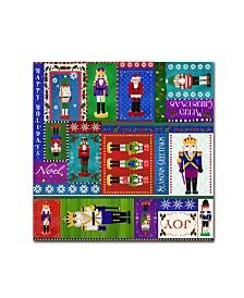 "Fiona Stokes-Gilbert 'Nutcracker Patt 1' Canvas Art - 24"" x 24"" x 2"""