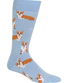Hot Sox Men's Socks, Corgi