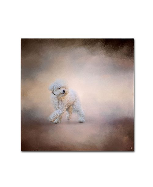 "Trademark Global Jai Johnson 'Bichon On The Go' Canvas Art - 14"" x 14"" x 2"""