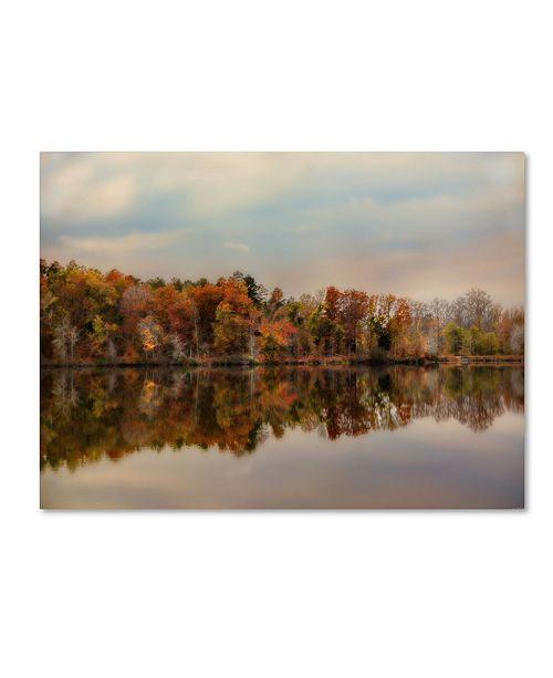 "Trademark Global Jai Johnson 'Autumn At Lake LaJoie 2' Canvas Art - 24"" x 18"" x 2"""