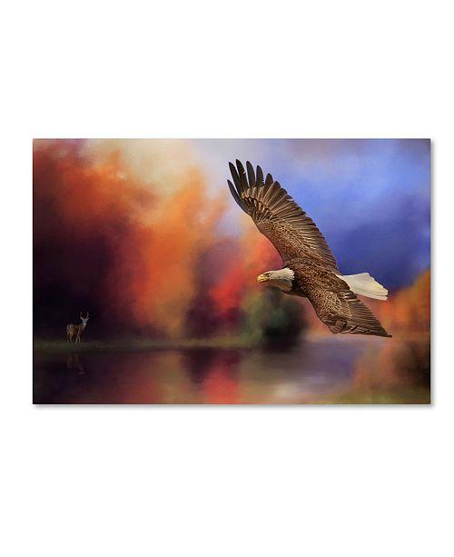"Trademark Global Jai Johnson 'Fall Flight Bald Eagle' Canvas Art - 19"" x 12"" x 2"""