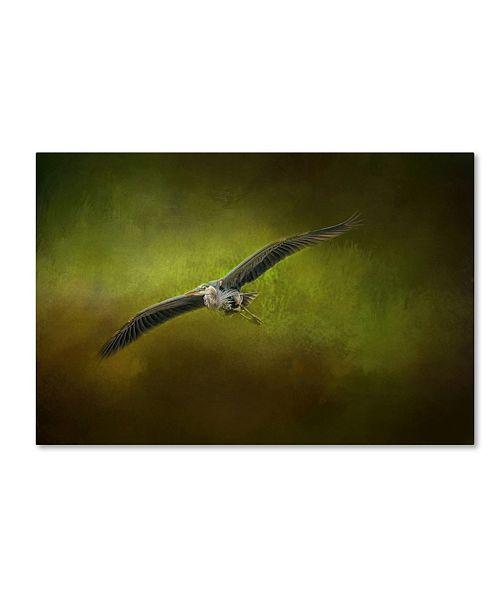 "Trademark Global Jai Johnson 'Great Blue Heron In The Grove' Canvas Art - 32"" x 22"" x 2"""