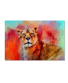 "Jai Johnson 'Colorful Expressions Lioness' Canvas Art - 32"" x 22"" x 2"""