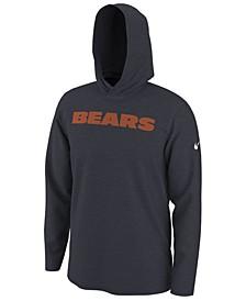 Men's Chicago Bears Helmet Hood Dri-FIT Cotton Long Sleeve T-Shirt