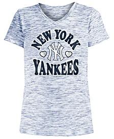 Big Girls New York Yankees Spacedye T-Shirt