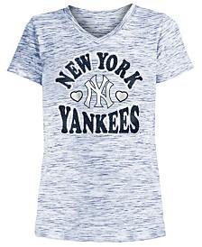 5th & Ocean Big Girls New York Yankees Spacedye T-Shirt