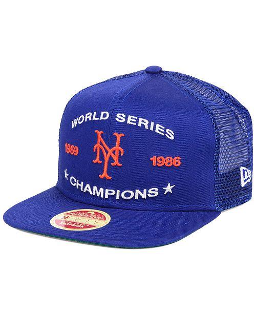 the best attitude 58250 53fbb ... New Era New York Mets Team Front Trucker 9FIFTY Snapback Cap ...