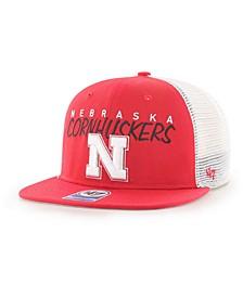 Big Boys Nebraska Cornhuskers Wordmark Captain Snapback Cap