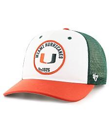 '47 Brand Miami Hurricanes Swell MVP Trucker Snapback Cap