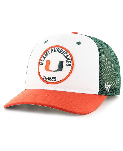 low priced 5518a 367a1 ...  47 Brand Miami Hurricanes Swell MVP Trucker Snapback Cap    ...