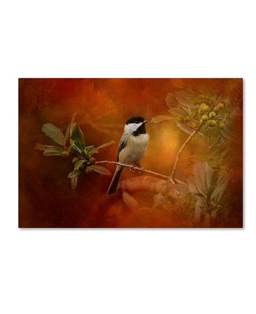 "Trademark Global Jai Johnson 'Autumn Day Chickadee' Canvas Art - 19"" x 12"" x 2"""