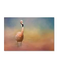 "Jai Johnson 'Flamingo Friday' Canvas Art - 32"" x 22"" x 2"""